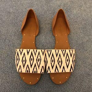New Madewell faux animal hair sandal